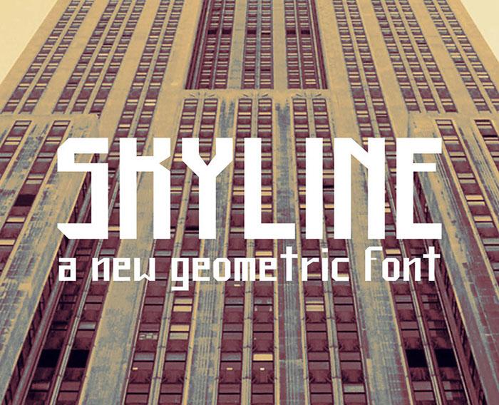 Skyline Free font