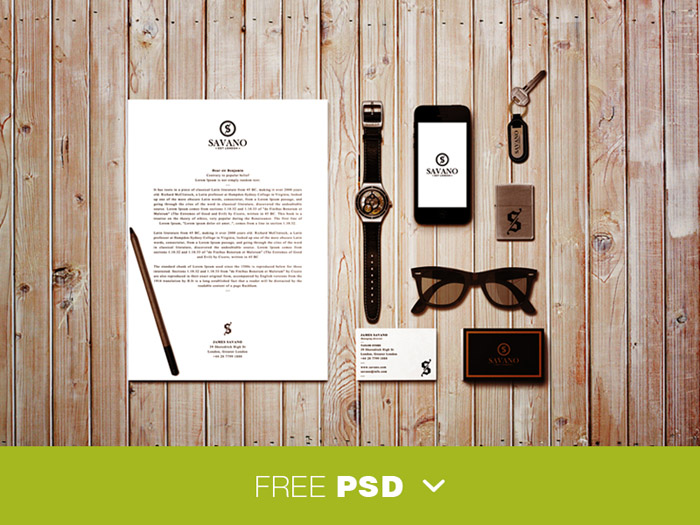Free Stationary Mockup for Branding / Identity