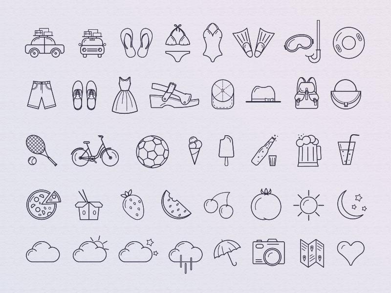 Free Warm summer icons