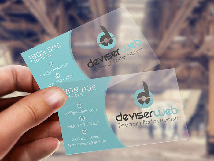 Free Transparent BUsiness Card Template for Designer