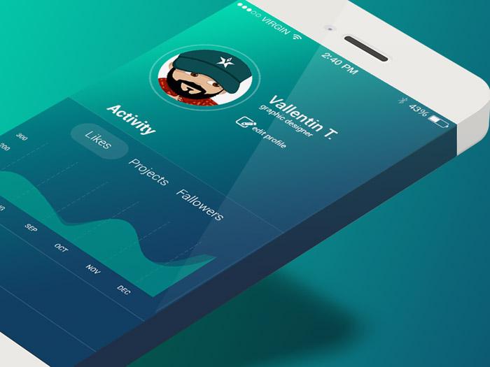 Blue App Design for iOS