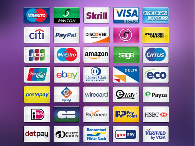 50 Free Payment icons for Ecommerce Website