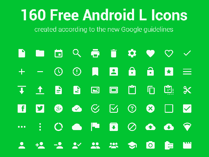 Free Android L Icon Set