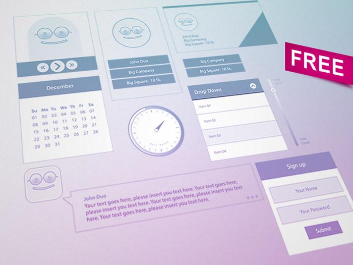 Free UI Kit by Ahmed Mu