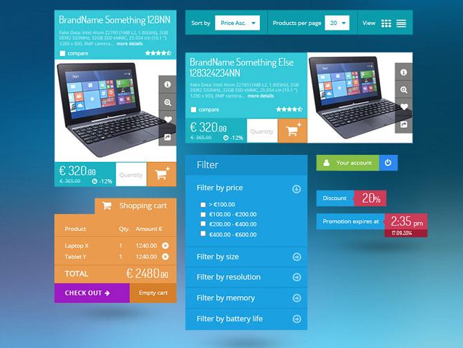 Free Metro Ecommerce UI kit