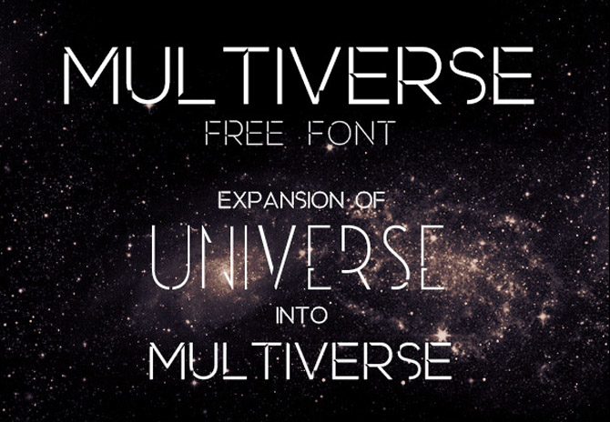 Multiverse free Font
