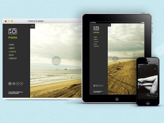 Phogra : Responsive photography and portfolio WordPress Theme
