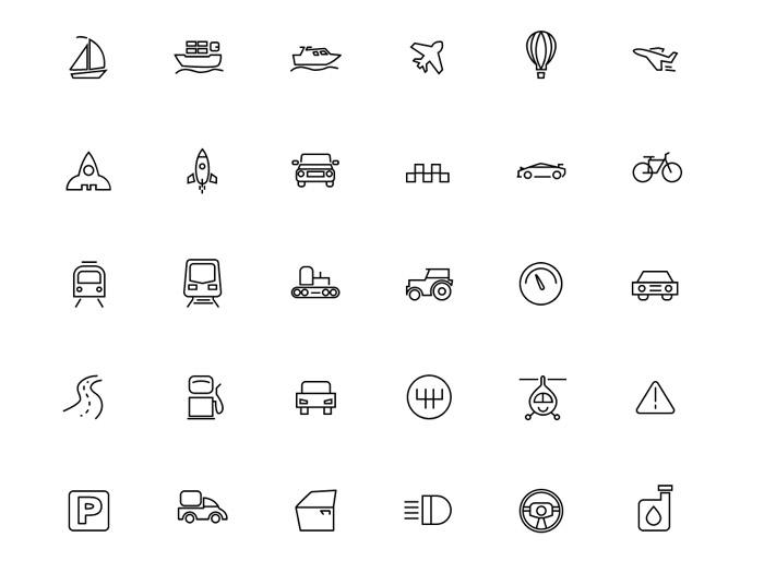 Free Flat Transportation Icons