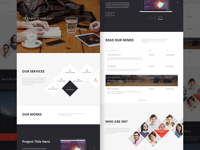Business Landing Page PSD