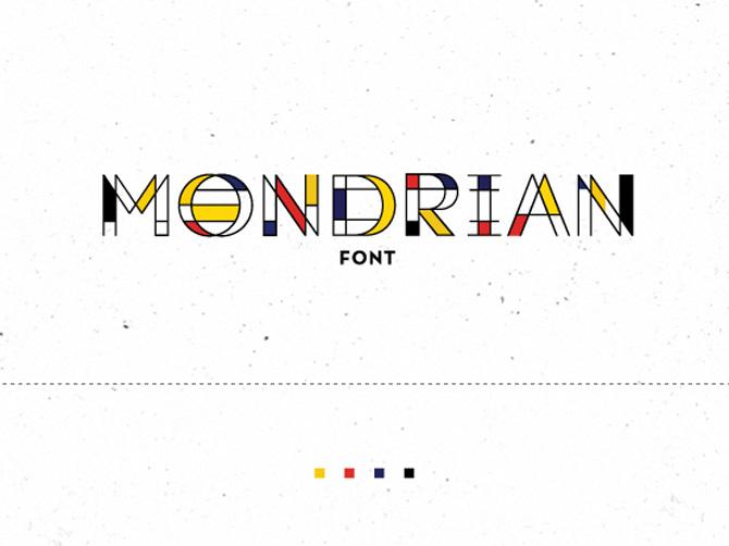 Mondrian Free Font