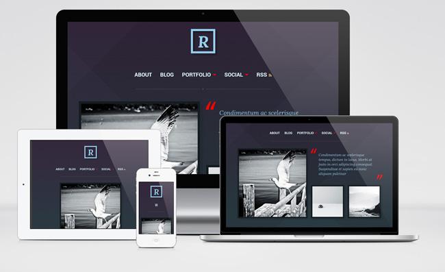 Ravel : Minimalist Blog and Portfolio WordPress Theme
