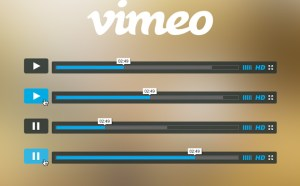 Free Vimeo Player PSD