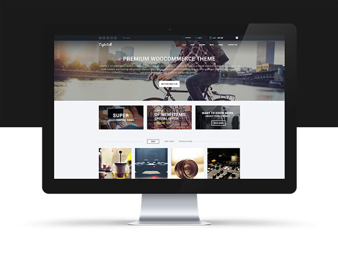 TrytoSell : Free eCommerce PSD Template