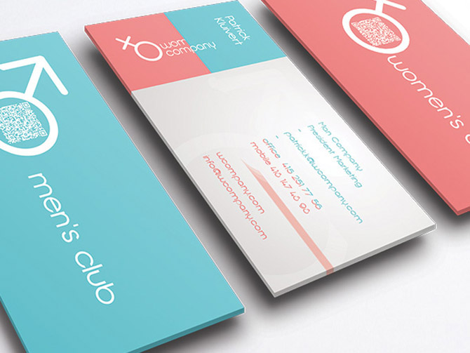 Free Man and Woman Business Card Template