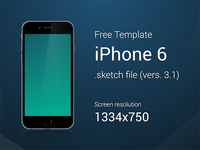 Free iPhone 6 Template Sketch