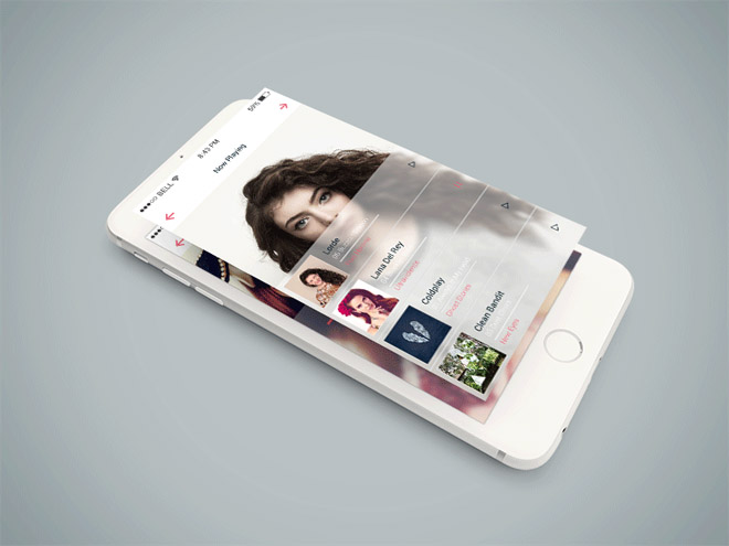 Free Isometric iPhone 6 PSD Mockup