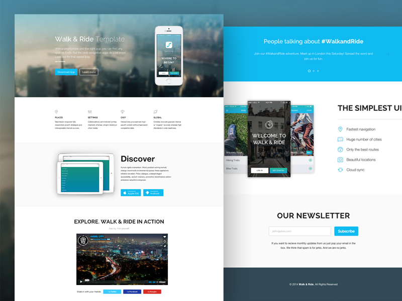 Walk & Rid : Free Responsive One Page HTML Template