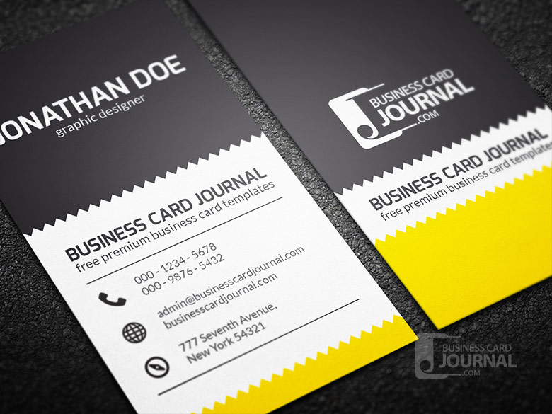 Zigzag Business Card Template for Designer