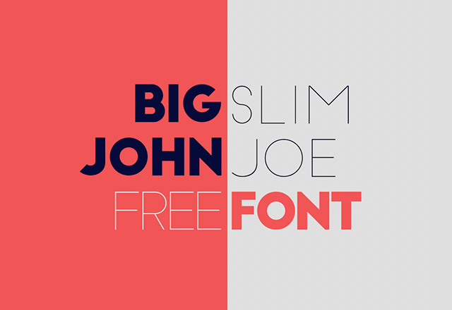 Big John / Slim Joe Free Typeface