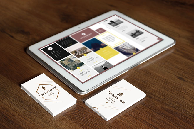 9+ Free Business Card and Tablet Mockup