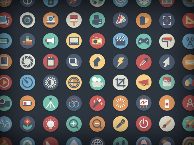 384 Free Beautiful Vector Flat Icons