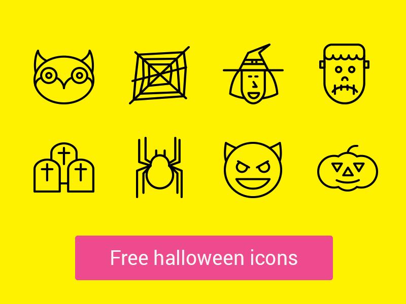 Free Halloween Line Icons