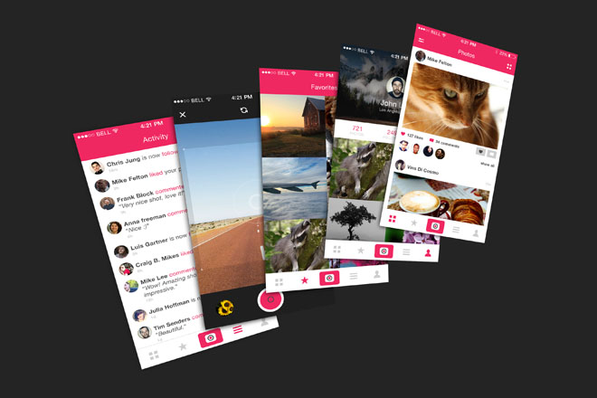 Free Photo App UI PSD