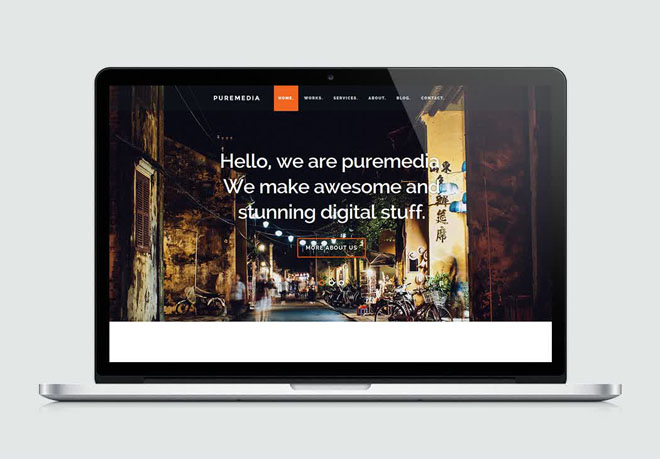 Puremedia : free Modern HTML Template for Business