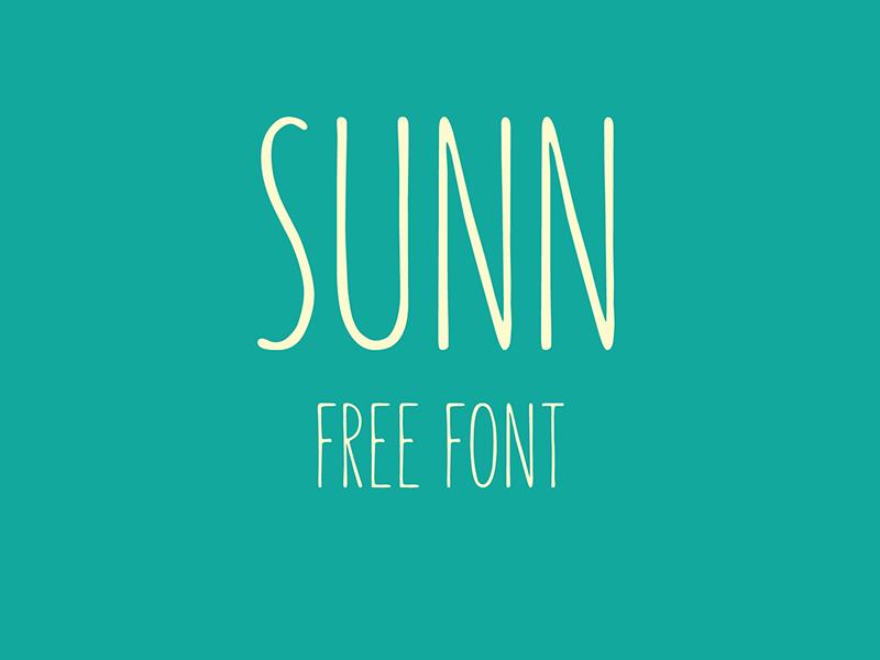 SUNN – Free Handwriting Typeface