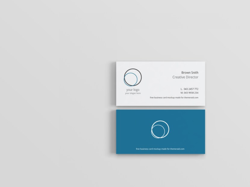 Modern and Minimal Business Card Template