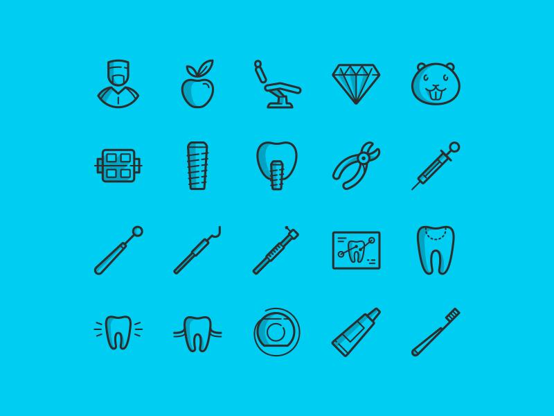 Free Dental Icon Set