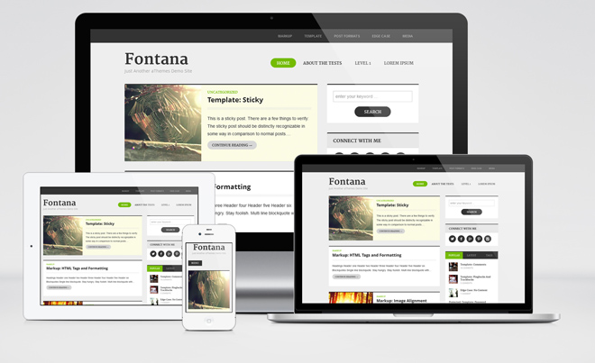Fontana : Free Responsive Magazine WordPress Theme