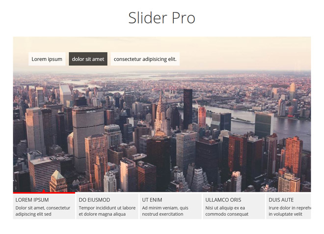 Slider Pro : Responsive and Touch Enabled jQuery Slider Plugin