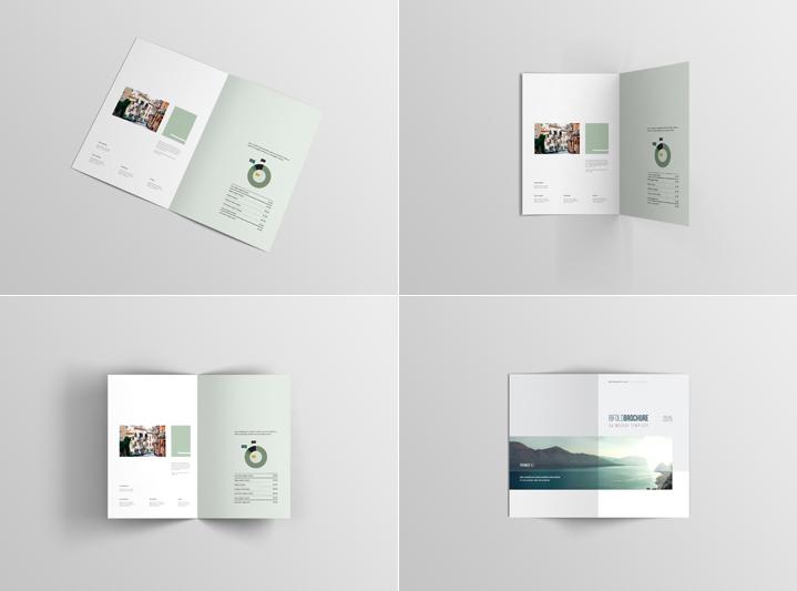 Free A4 Bifold Brochure Mockup Psd Free Download Freebiesjedi