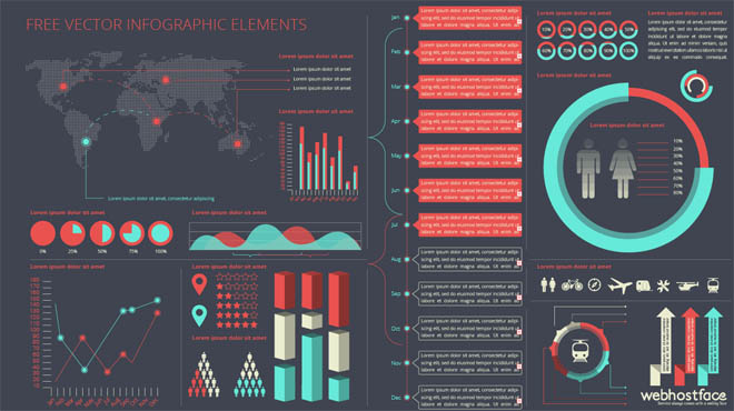 Free Vector Infographic Elements Kit