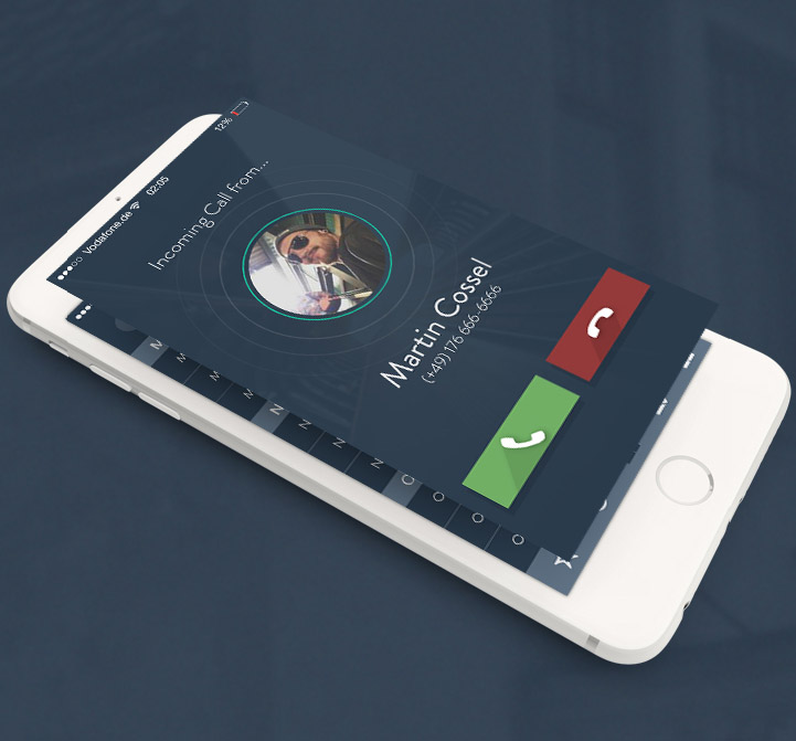 Graweda : iPhone App UI/UX PSD Design