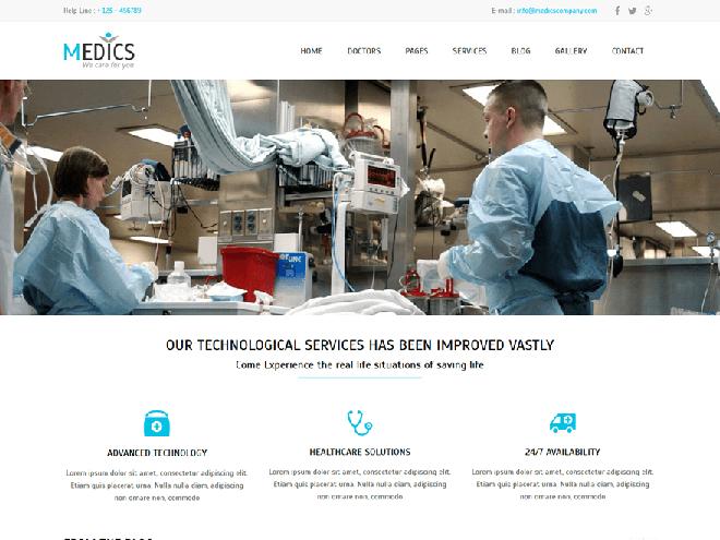 Medics : Free Medical WordPress Theme