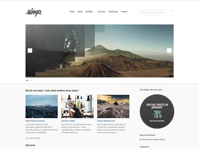 Simp : Free Minimal Agency WordPress Theme