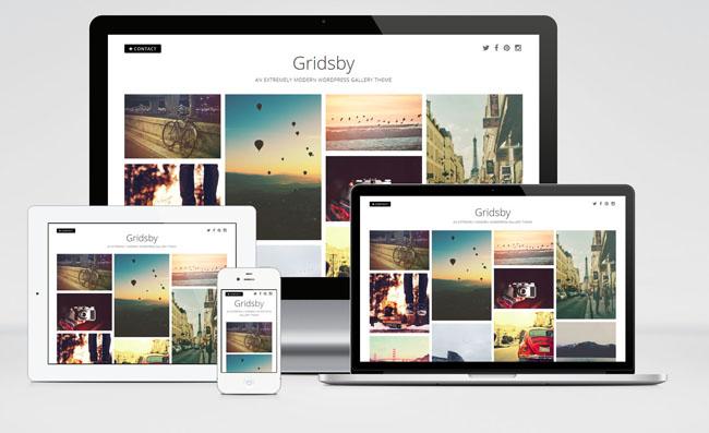 Gridsby : Pinterest Style Gallery WordPress Theme