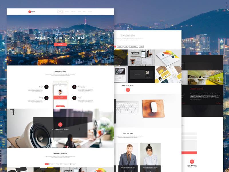 Seven : Clean and Creative Portofolio PSD Template