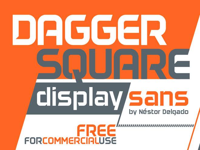 Daggersquare : Free Geometrical Display Sans Font