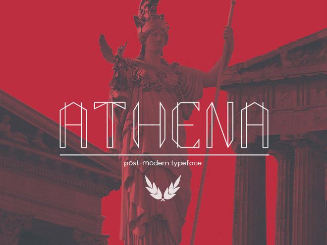 ATHENA : Free Post-modern Font