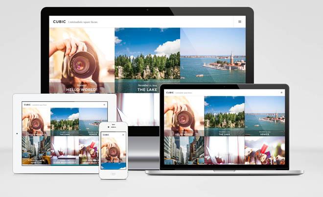 Cubic : Grid-Based Portfolio WordPress Theme