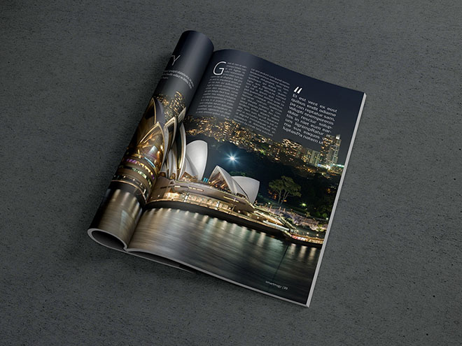 Free Elegant Magazine PSD Mockup