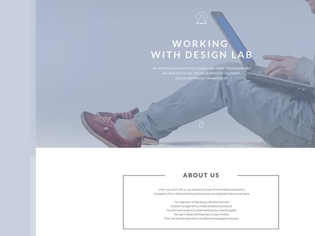 Free Modern PSD Landing Page Template