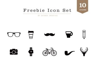 Free Vector Hipster Icon Set