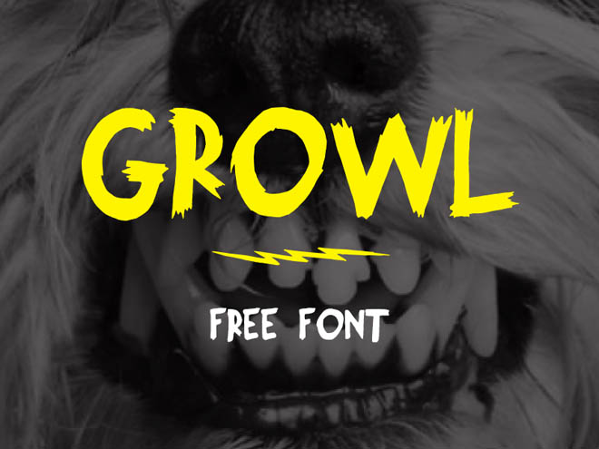 Growl Free Typeface