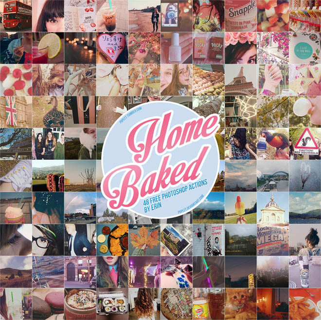 Home Baked : 48 Free Photoshop Actions