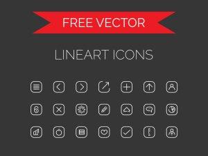 Free Line-Art Icons Set