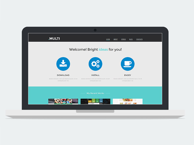 Multi – Responsive Universal WordPress Theme